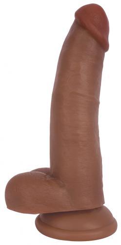 21 cm Realistischer Dildo mit Hodensack - Braun