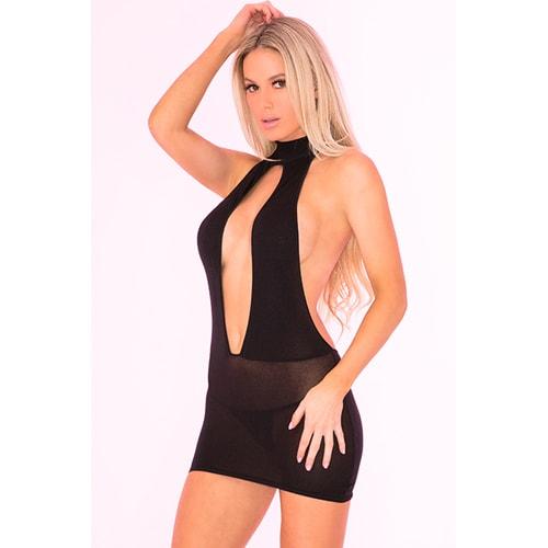 Bare With Me - Kleid mit offener Rückseite