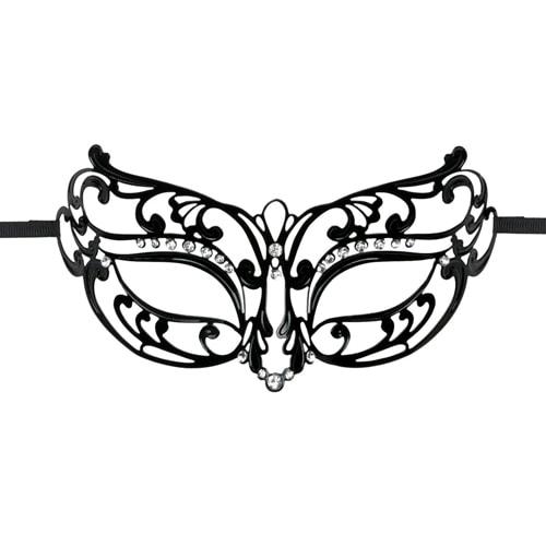 EasyToys – Durchbrochene Maske aus Metall in Schwarz