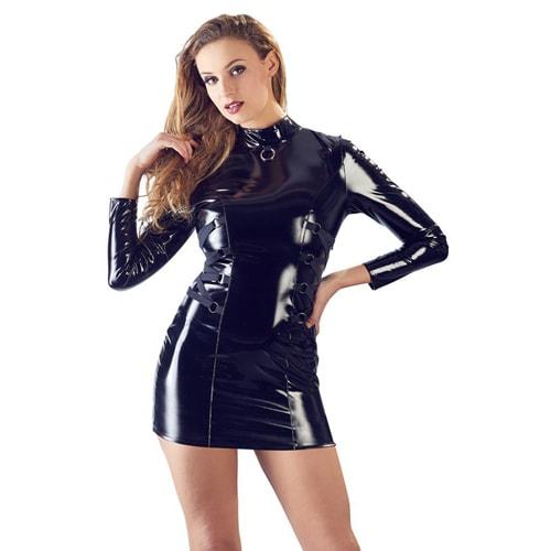 Lack-Kleid langarm