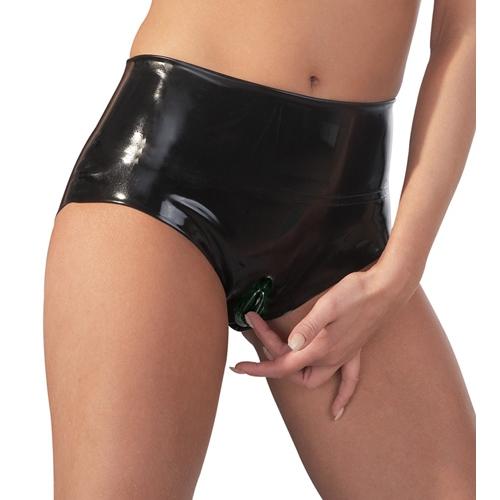 Latex Slips mit Vagina Kondom