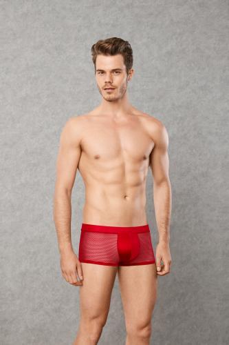 Männer-Boxershorts aus Mesh-Material - Rot