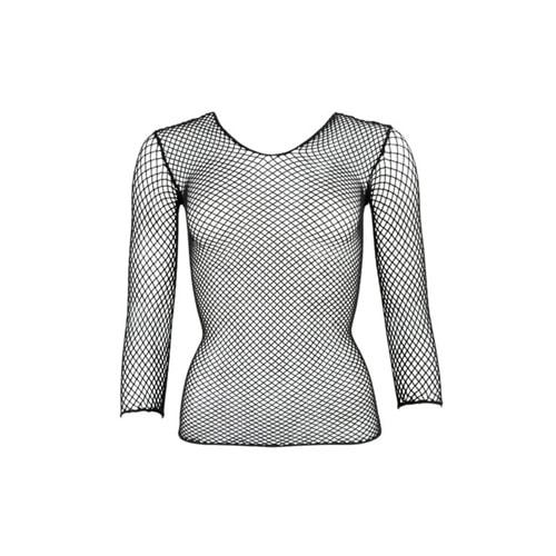 Netz-Shirt mit langem Arm