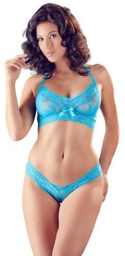 Sexy 2-teiliges Spitzen-BH-Set - Babyblau